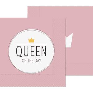 Servietten Queen of the day
