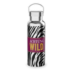 Thermoflasche Achtung Wild