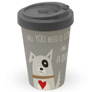 Coffee to go All you need is love and a dog