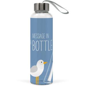 Beach Glasflasche