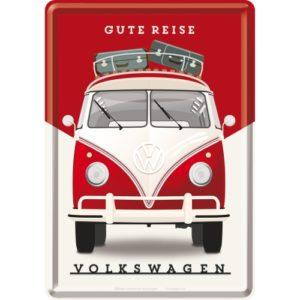 Blechpostkarte VW Bulli Gute Reise
