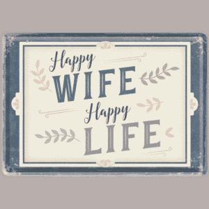 Blechpostkarte Happy wife