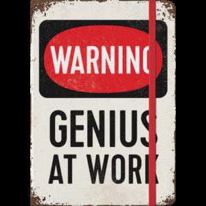 Notizbuch A5 Genius at work