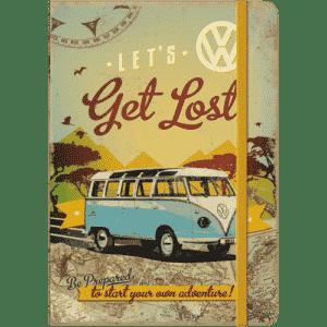 Notizbuch A5 VW Bulli Let's get lost