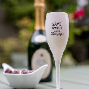 Sektglas SAVE WATER DRINK CHAMPAGNE