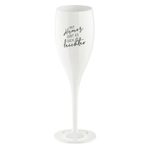 Sektglas Mit Humor lebt es sich leichter