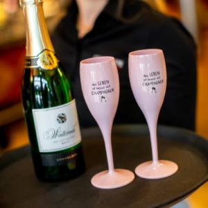 Sektglas Das Leben ist besser mit Champagner