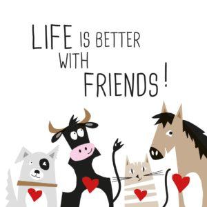 Life is better with friends Servietten
