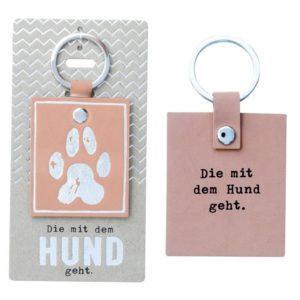Schlüsselanhänger, Die mit dem Hund geht