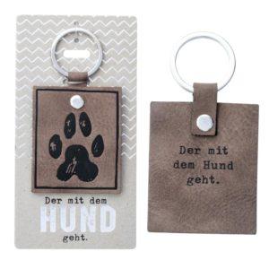 Schlüsselanhänger Der mit dem Hund geht