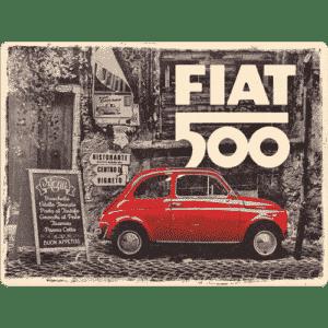 Blechschild 30x40cm Fiat 500