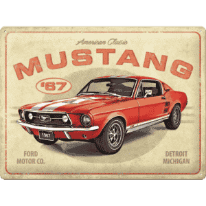 Schild Metall Ford Mustang