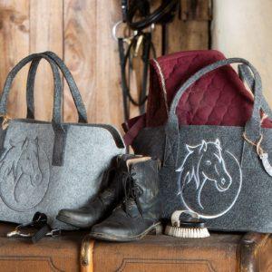 Tasche Pferdekopf hellgrau