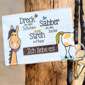 Schild Metall Pferd
