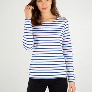 Armor Lux Shirt langarm Weiß/Blau