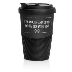 Coffee to go leg dich wieder hin