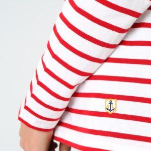 Armor Lux Shirt Rot/ Weiß