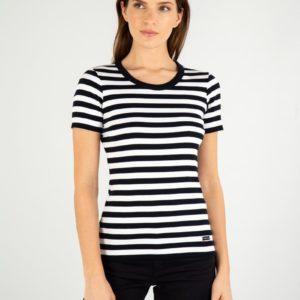 Amor Lux Shirt im Marine Look kurzarm